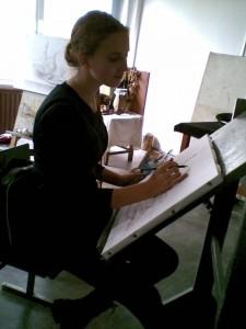 Студентка Санкт-Петербургского художественного училища имени Рериха Анна Ситовская