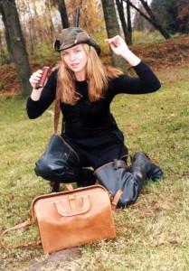 Певица Варвара в лесу