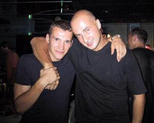 Футболист Андрей Шевченко и теннисист Андрей Медведев