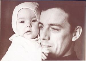 Раймонд Паулс с дочерью Анетой (60-е годы)