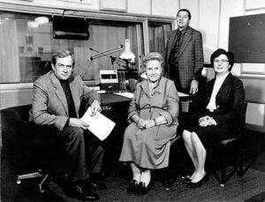 Дикторы Всесоюзного радио - Андрей Хлебников, Ольга Высоцкая, Игорь Милованов, Елена Минаева.