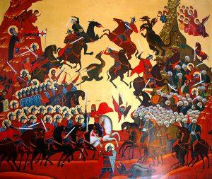 Косовская битва. Современная икона. Сербия. фото: иером.Игнатий (Шестаков).