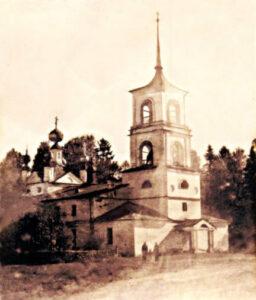 Воскресения Христова храм. Бокситогорский район, Журавлево село.