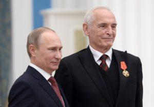 Владимир Путин и Василий Лановой