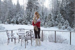 Певица Варвара, как отмечает Новый год, Рождество, зима, загородный дом