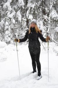 Певица Варвара, лыжи