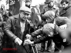 Ролан Быков на съемках фильма «Чучело»
