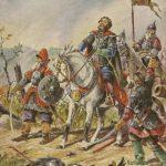 Князь Пожарский в битве под Москвой.