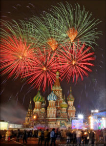 Москва, фейерверк