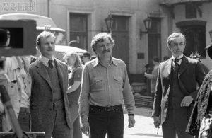 И. Масленников на съемках фильма о Шерлоке Холмсе