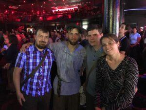 Вадим Грачев с атаманом Денисом Антиповым и друзьями