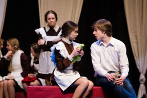 Школьники в театре