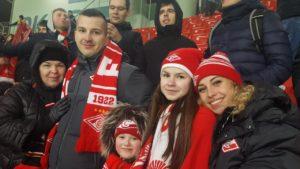 Вероника Иванова на стадионе, Спартак, футбол