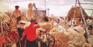 Колхозники на току