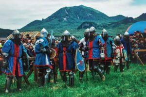 Железные игры для любителей Средневековья, динамическое сражение