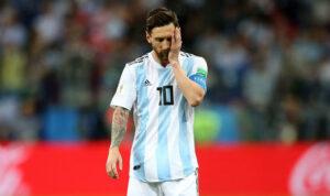 Лионель Месси, матч Аргентина - Хорватия, 2018