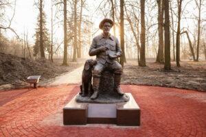 Памятник Михаилу Пришвину