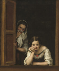 """""""Две женщины в окне"""". Мурильо."""