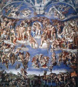 """Картина """"Страшный суд"""". Микеланджело Буанарроти."""