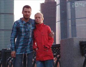 Актриса Евгения Осипова с мужем.