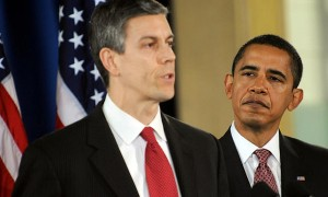 Арне Дункан и Барак Обама
