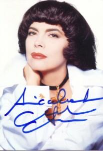 Автограф певицы Мирей Матье