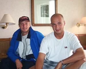 Евгений Кафельников и Андрей Медведев в Германии.