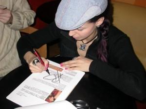 Автограф певицы Натальи Власовой