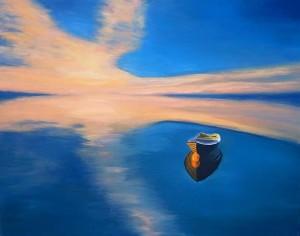 Работа Елены Уитман. Sunset boat.