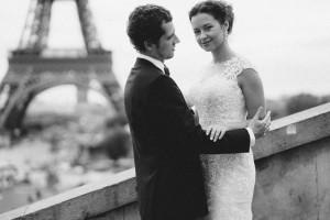 Наталья Русинова с мужем. Фото со свадебного путешествия. Париж.