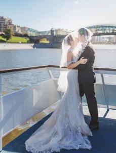 Наталья Русинова с мужем. Фото со свадьбы.
