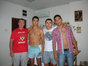 Вадим Грачев с друзьями из Черногории