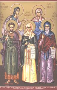 Преподобные Евстолия, Сосипатра и другие святые