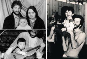Семья Игоря Талькова. Сын Игорь, жена Татьяна.