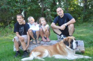 Захар Прилепин с детьми, семья