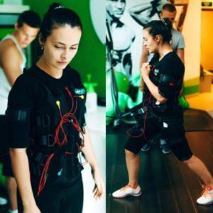 Эльмира Калимуллина в костюме для интенсивной тренировки