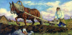Крестьянин на пашне