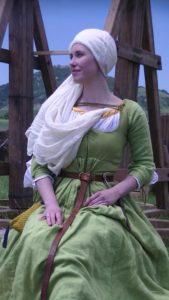 Мария Герасимович в Швейцарском историческом костюме 15 века.