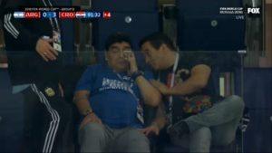 Диего Марадона, матч Аргентина - Хорватия, 2018