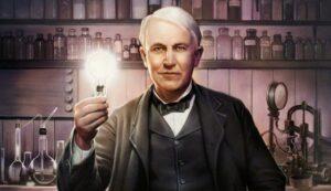 Томас Эдисон, электричество, ток, лампочка