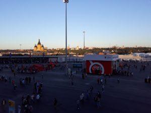 Стадион Нижний Новгород. Вид на собор Александра Невского. Фото Михаила Семёнова.