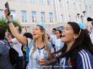 Нижний Новгород. Болельщики Аргентины и Хорватии.