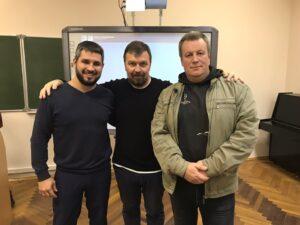 Вадим Грачев, с участниками лекции по генеалогии.