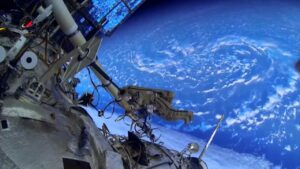 Космонавт Александр Мисуркин, работа в открытом космосе