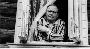 Поэт Николай Алексеевич Заболоцкий, дачный дом, 1957 г.