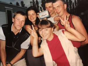 Вадим Грачев с друзьями в Англии