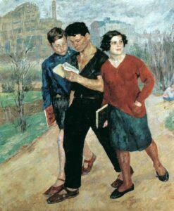 Картина Бориса Иогансона «Рабфак идёт»