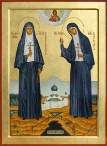 Преподобномученицы Великая княгиня Елисавета и инокиня Варвара