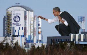 Обама на космодроме