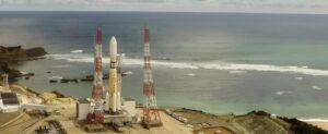 Япония. Запуск ракеты с самого красивого в мире космодрома.